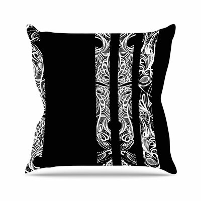 Maria Bazarova Lines Vector Art Deco Outdoor Throw Pillow Size: 18 H x 18 W x 5 D