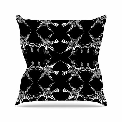 Maria Bazarova Snowflakes Illustration Outdoor Throw Pillow Size: 16 H x 16 W x 5 D