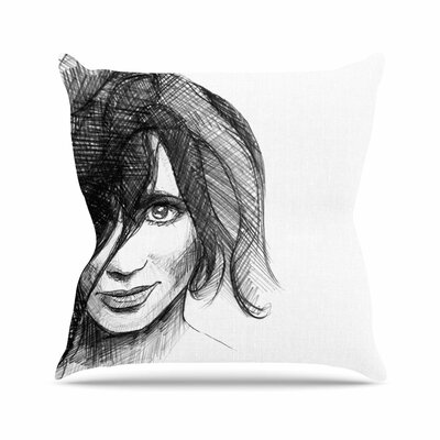 Maria Bazarova Self Portrait Outdoor Throw Pillow Size: 16 H x 16 W x 5 D