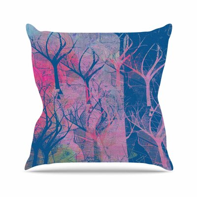 Marianna Tankelevich Fantasy Garden Outdoor Throw Pillow Size: 16 H x 16 W x 5 D