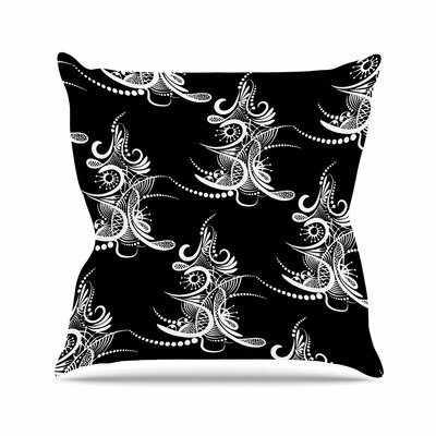 Maria Bazarova Tree Vector Outdoor Throw Pillow Size: 16 H x 16 W x 5 D