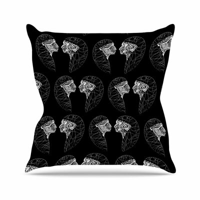 Maria Bazarova Twins Abstract Outdoor Throw Pillow Size: 18 H x 18 W x 5 D