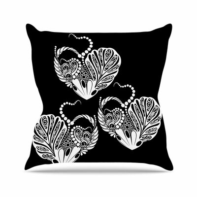 Maria Bazarova Three Hearts Outdoor Throw Pillow Size: 18 H x 18 W x 5 D