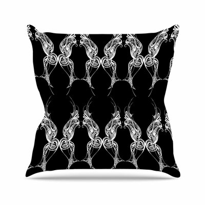 Maria Bazarova Wings Art Deco Abstract Outdoor Throw Pillow Size: 16 H x 16 W x 5 D