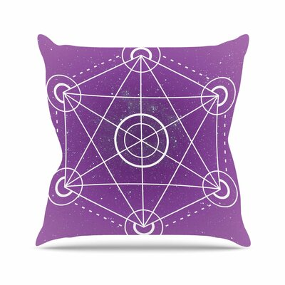Matt Eklund Dalaran Geometric Outdoor Throw Pillow Size: 16 H x 16 W x 5 D