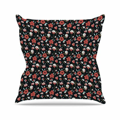 Mayacoa Studio Floral Field Floral Outdoor Throw Pillow Size: 16 H x 16 W x 5 D