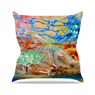 Nathan Gibbs Art the Earth Shows Its End Outdoor Throw Pillow Size: 18 H x 18 W x 5 D