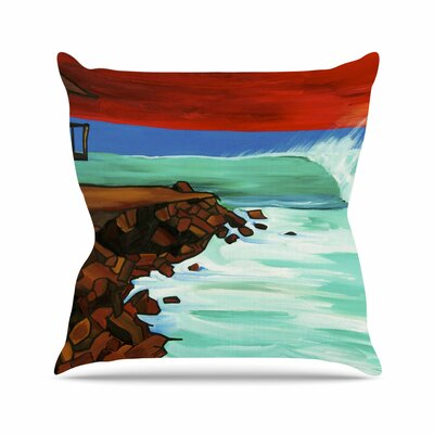 Nathan Gibbs Art Rights off Point Outdoor Throw Pillow Size: 16 H x 16 W x 5 D