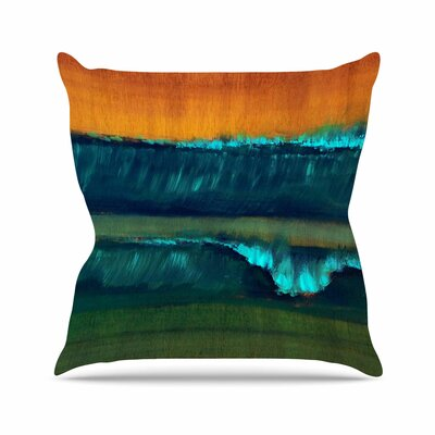 Nathan Gibbs Leaf Tea Outdoor Throw Pillow Size: 16 H x 16 W x 5 D