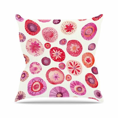 Nic Squirrell All the Flowers Outdoor Throw Pillow Size: 16 H x 16 W x 5 D
