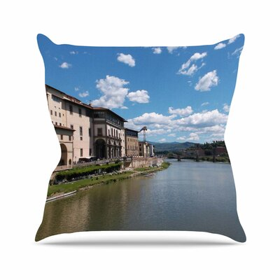 Nick Nareshni Canals of Italy Travel Outdoor Throw Pillow Size: 18 H x 18 W x 5 D