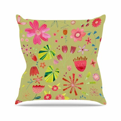 Nic Squirrell Wild Meadow Floral, Digital, Illistration Outdoor Throw Pillow Size: 16 H x 16 W x 5 D