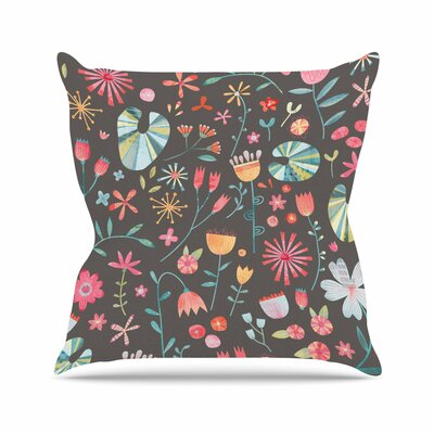 Nic Squirrell Wayside Flowers Floral Outdoor Throw Pillow Size: 18 H x 18 W x 5 D