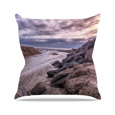 Nick Nareshni Clouds Over Carlsbad Beach Coastal Outdoor Throw Pillow Size: 16 H x 16 W x 5 D