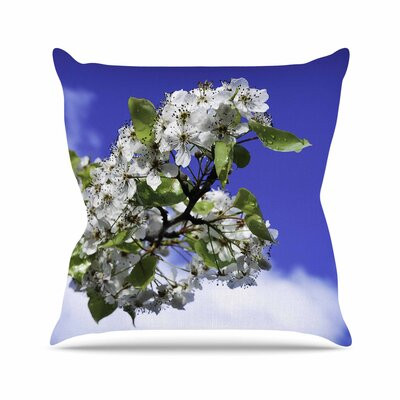Nick Nareshni Cherry Blossoms and Sky Outdoor Throw Pillow Size: 16 H x 16 W x 5 D