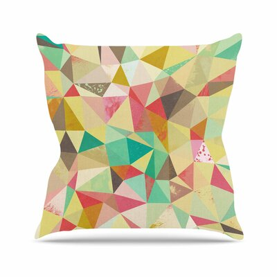 Nic Squirrell Shards Digital Outdoor Throw Pillow Size: 18 H x 18 W x 5 D