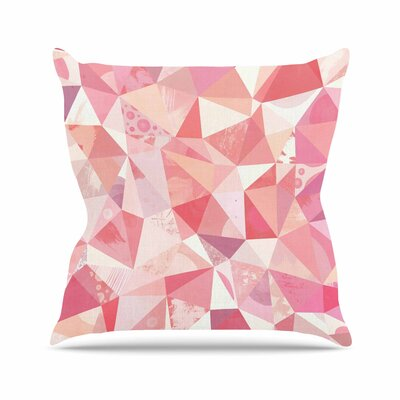 Nic Squirrell Crumpled Geometric Outdoor Throw Pillow Size: 16 H x 16 W x 5 D
