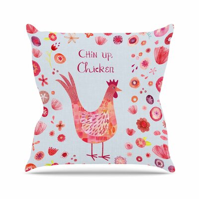 Nic Squirrell Chin up, Chicken Outdoor Throw Pillow Size: 16 H x 16 W x 5 D