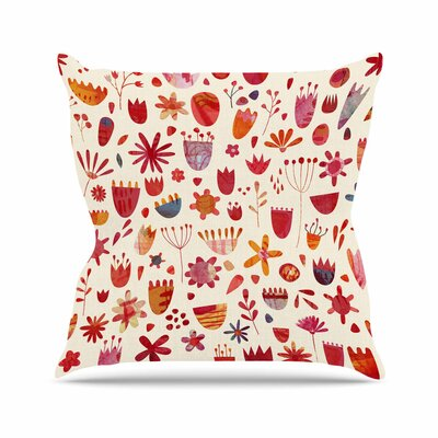 Nic Squirrell Spring Flowers Outdoor Throw Pillow Size: 16 H x 16 W x 5 D