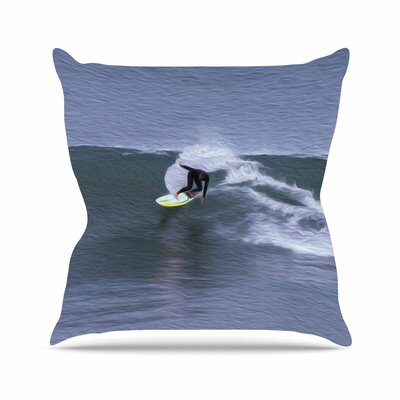 Nick Nareshni Surfers Ride Outdoor Throw Pillow Size: 16 H x 16 W x 5 D