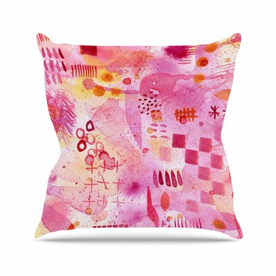 Nic Squirrell Sweet Dreams Abstract Outdoor Throw Pillow Size: 18 H x 18 W x 5 D