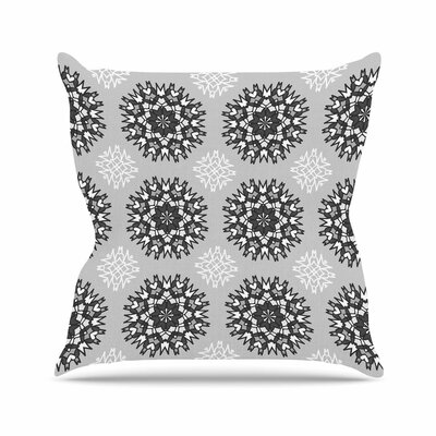 Nika Martinez Princess BW Vector Outdoor Throw Pillow Size: 16 H x 16 W x 5 D, Color: Gray
