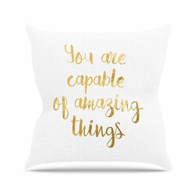 NL Designs Amazing Things Outdoor Throw Pillow Size: 18 H x 18 W x 5 D