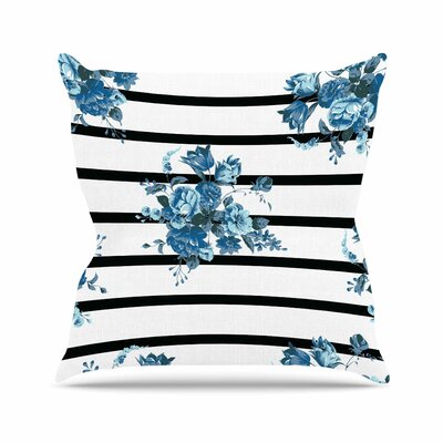 NL Designs Floral Strips Outdoor Throw Pillow Size: 16 H x 16 W x 5 D