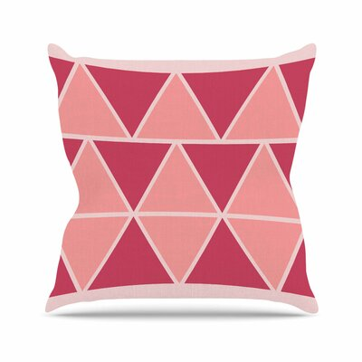 NL designs Peach Triangles Patterns Outdoor Throw Pillow Size: 18 H x 18 W x 5 D