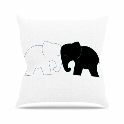 NL Designs and Elephant Love Outdoor Throw Pillow Size: 18 H x 18 W x 5 D