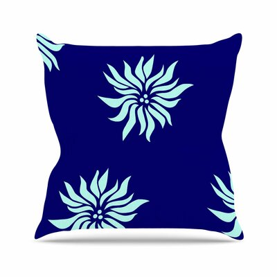 NL Designs Snow Flowers Outdoor Throw Pillow Size: 16 H x 16 W x 5 D