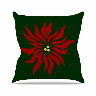 NL Designs Poinsettia Outdoor Throw Pillow