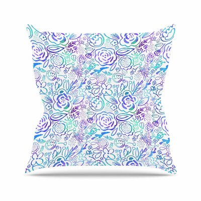 Noonday Design Floral Explosion Pattern Outdoor Throw Pillow Size: 18 H x 18 W x 5 D