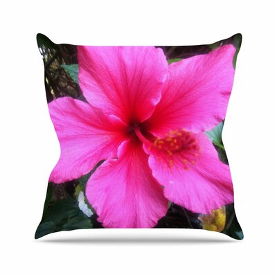 NL Designs Tropical Hibiscus Floral Outdoor Throw Pillow Size: 18 H x 18 W x 5 D