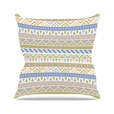 Noonday Design Happy Tribal Pattern Abstract Outdoor Throw Pillow Size: 16 H x 16 W x 5 D