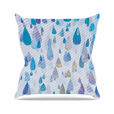 Noonday Design Rain Storm Digital Outdoor Throw Pillow Size: 18 H x 18 W x 5 D