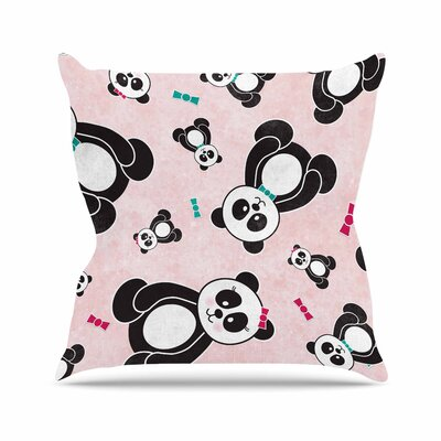 Noonday Design Panda Freefall in Outdoor Throw Pillow Size: 16
