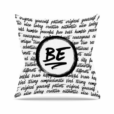 Noonday Design Be... Outdoor Throw Pillow Size: 18 H x 18 W x 5 D