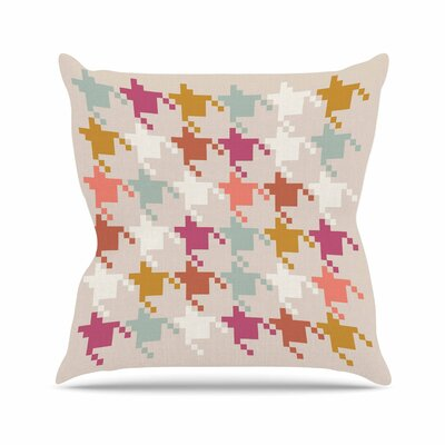 Pellerina Design Houndstooth Panel Digital Outdoor Throw Pillow Size: 16 H x 16 W x 5 D