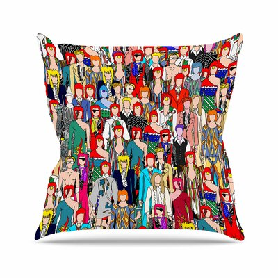 Notsniw Where's Bowie? Outdoor Throw Pillow Size: 18