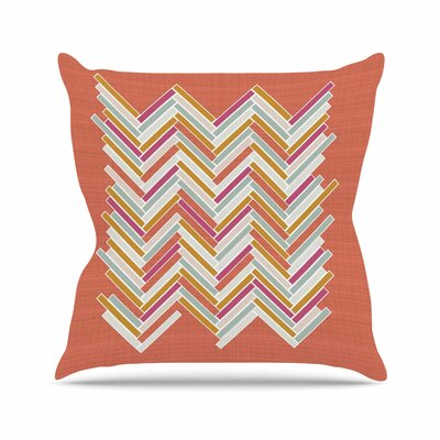 Pellerina Design Herringbone Weave Bold Vector Outdoor Throw Pillow Size: 16 H x 16 W x 5 D