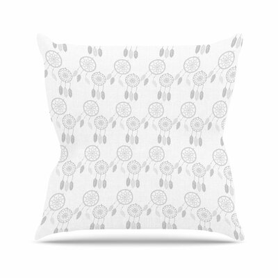 Petit Griffin Dream Catchers Digital Outdoor Throw Pillow Color: Gray/White, Size: 16