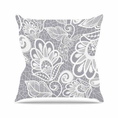 Petit Griffin Lace Flower Outdoor Throw Pillow Size: 18 H x 18 W x 5 D