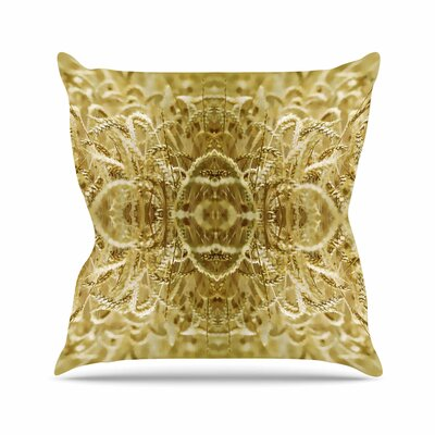 Pia Schneider Cornfield Pattern, Ocker Pattern Outdoor Throw Pillow Size: 18 H x 18 W x 5 D