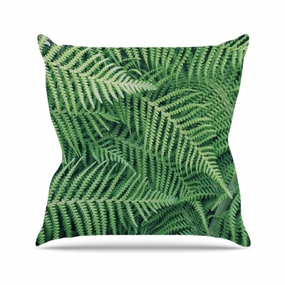 Richard Casillas Ferns Outdoor Throw Pillow Size: 16 H x 16 W x 5 D