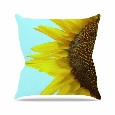 Richard Casillas Sunflower Mint Outdoor Throw Pillow Size: 16