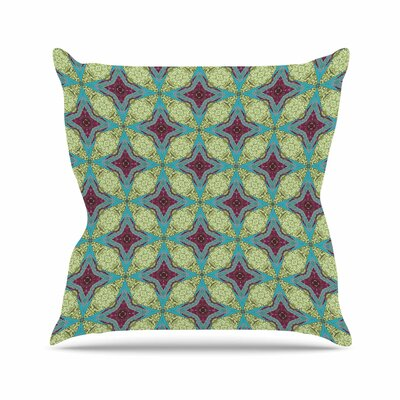 Rachel Watson Brocade Foulard Plum Outdoor Throw Pillow Size: 16 H x 16 W x 5 D