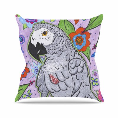Rebecca Fisher Rio Parrot Outdoor Throw Pillow Size: 16