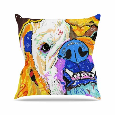 Rebecca Fisher Tucker Bulldog Outdoor Throw Pillow Size: 16
