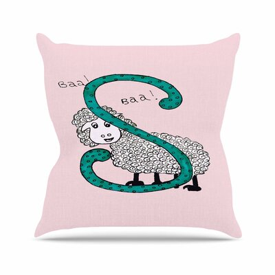 Rosie Brown Sis for Sheep Outdoor Throw Pillow Size: 16 H x 16 W x 5 D, Color: Pink